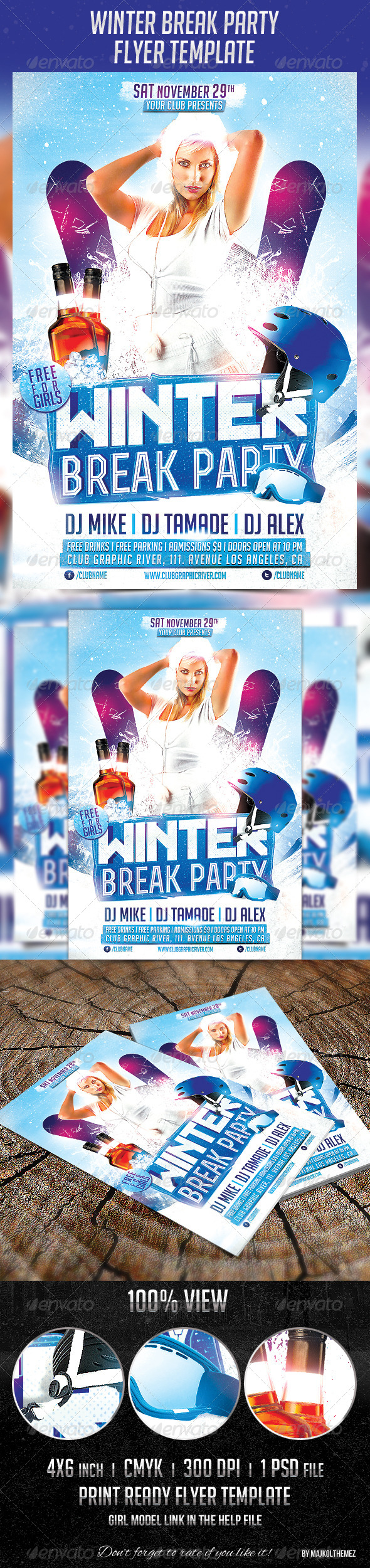 GraphicRiver Winter Break Party Flyer Template 5962426