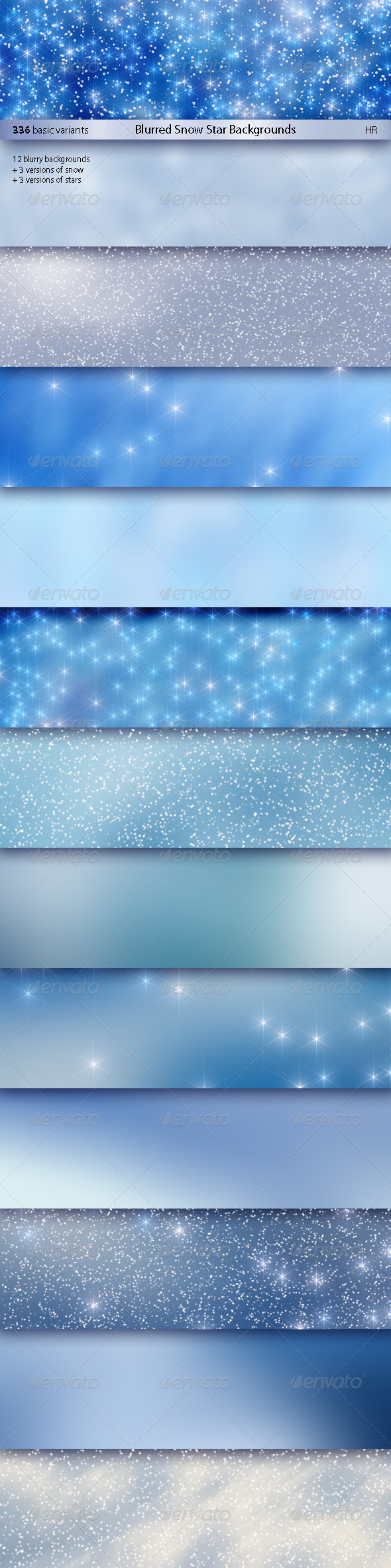 GraphicRiver Blurred Snow Star Backgrounds 5962462