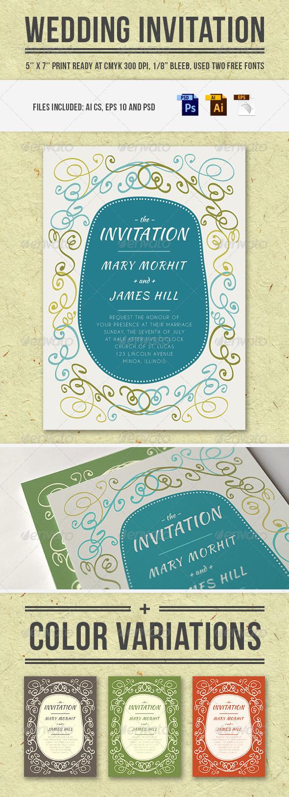 GraphicRiver Wedding Invitation 5962838