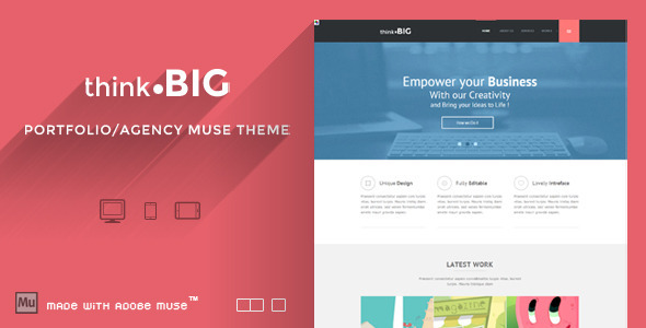 ThemeForest Think Big Creative Muse Theme 5962910