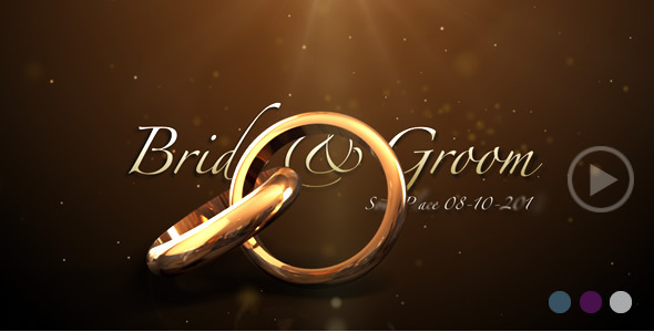 Weddings rings intro by flashato videohive for After effects cs4 intro templates free download