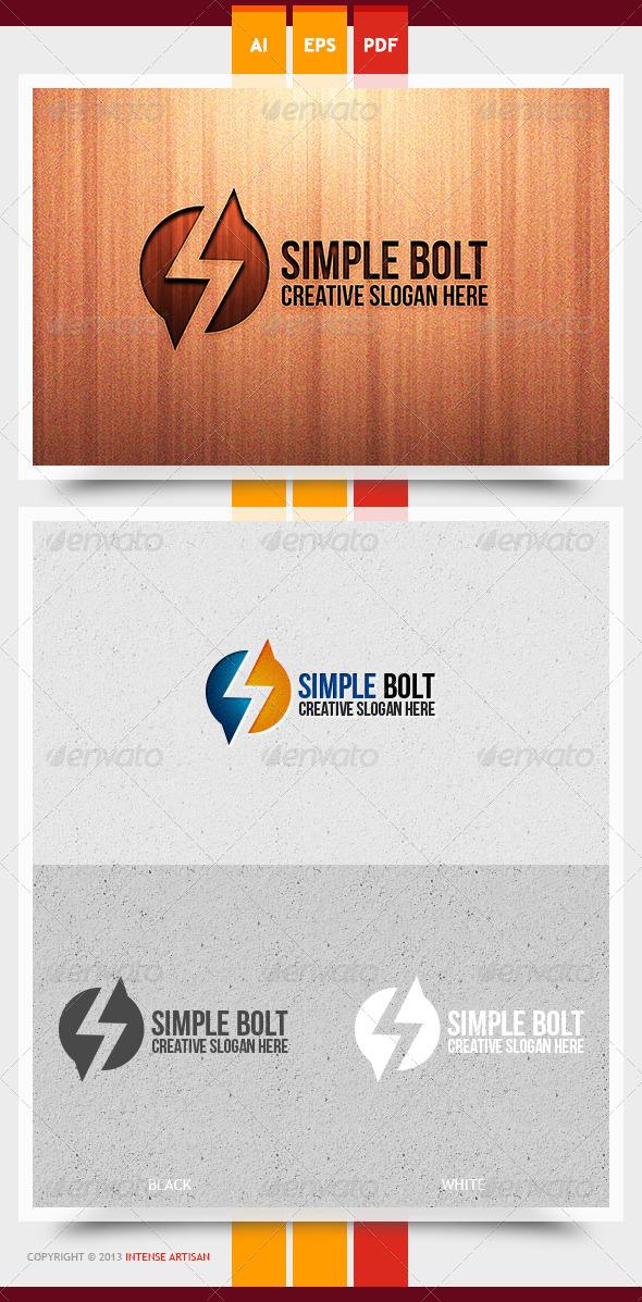 GraphicRiver Simple Bolt Logo Template 5962952