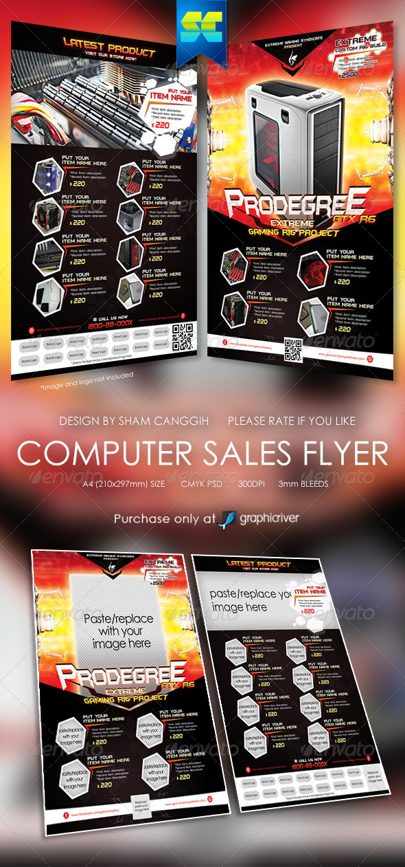 GraphicRiver Extreme Computer Sales Flyer 5935678