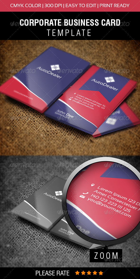 GraphicRiver AutoDealer Business Card 5963418