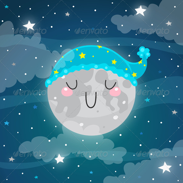 GraphicRiver Sleeping Moon 5963440