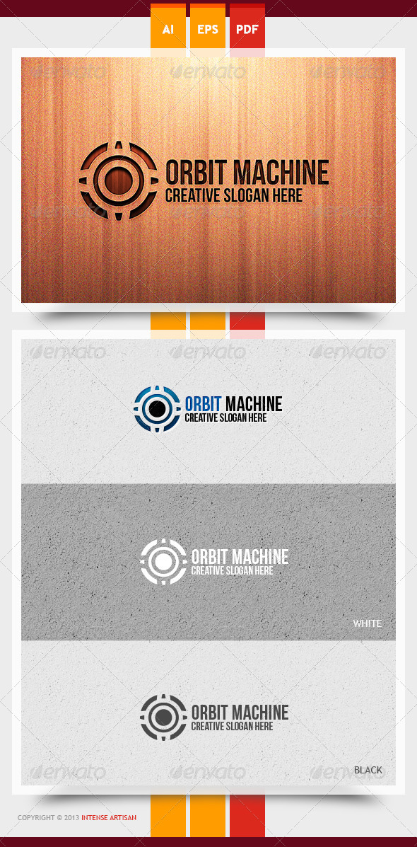 Orbit Machine Logo Template