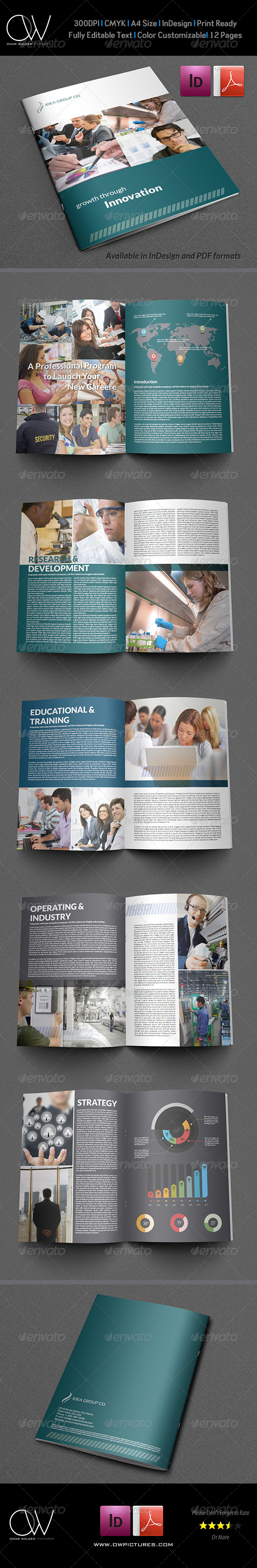 Company Brochure Template Vol.13 - 12 Pages - Corporate Brochures