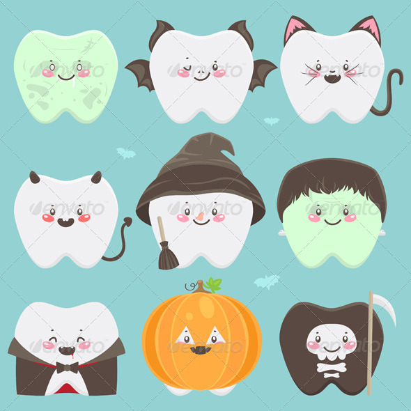 GraphicRiver Halloween Teeth 5964232