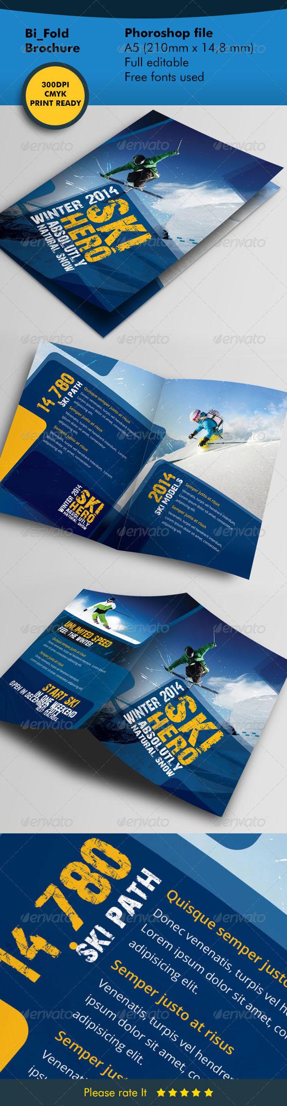 GraphicRiver Winter Ski Bifold Template 5964240