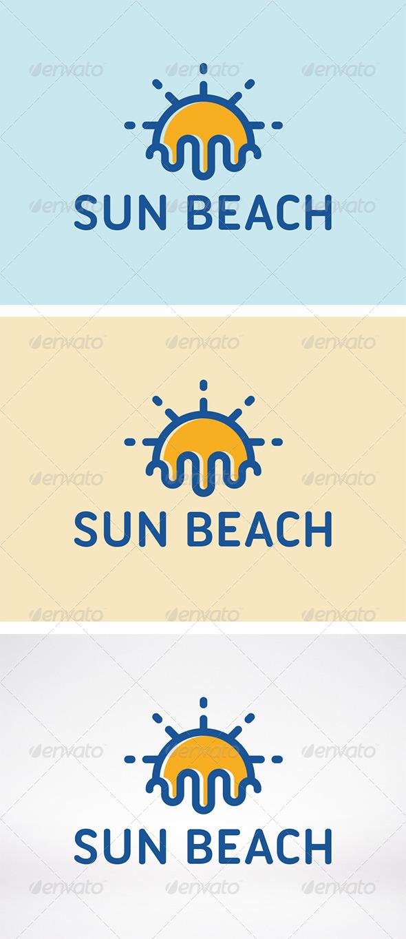 GraphicRiver Sun Beach Logo Template 5964381
