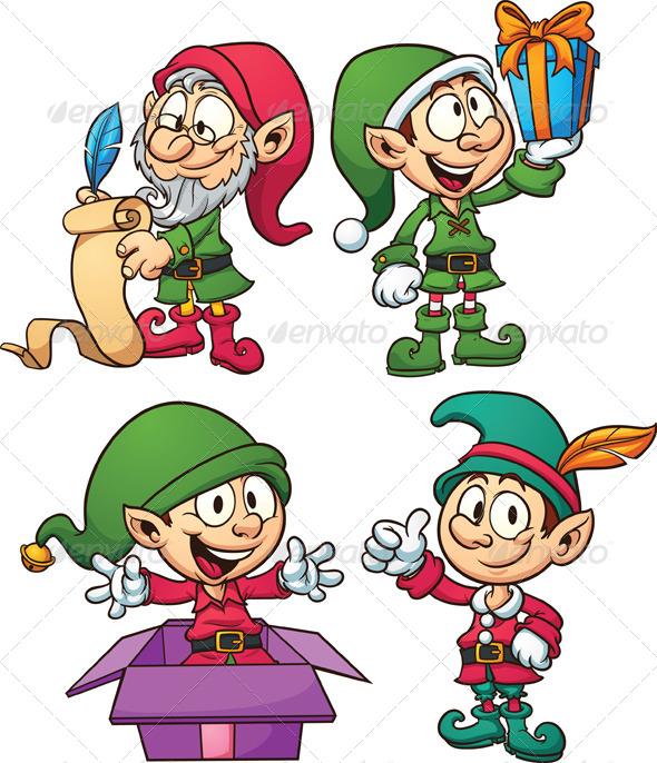 GraphicRiver Christmas Elves 5964425