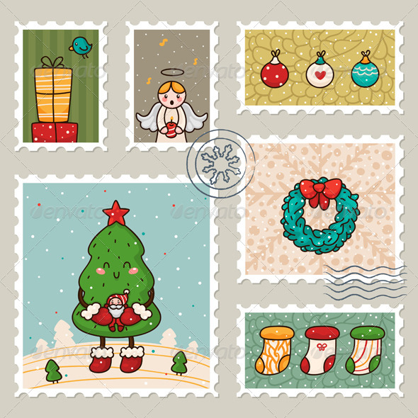 GraphicRiver Christmas Stamp 5964694