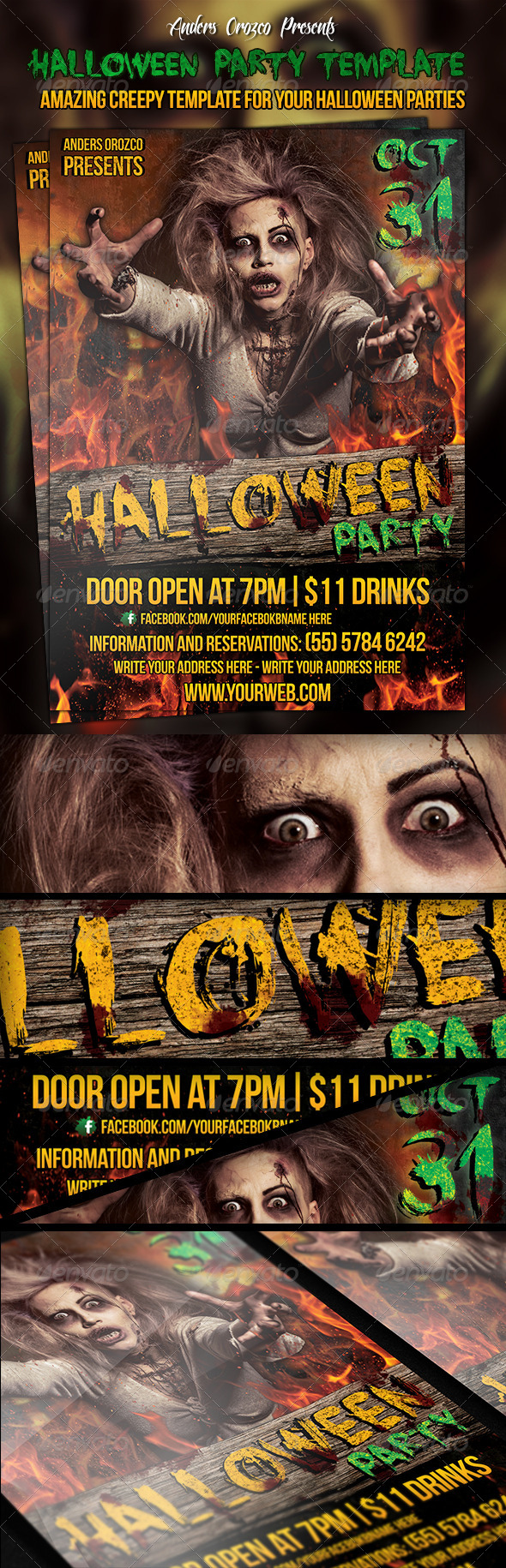GraphicRiver Halloween Party Poster 5964988