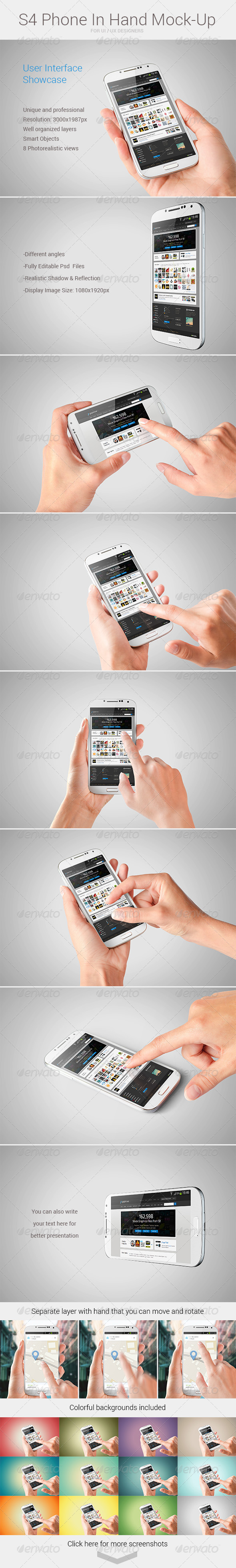 GraphicRiver S4 Phone In Hand Mock-Up 5965017