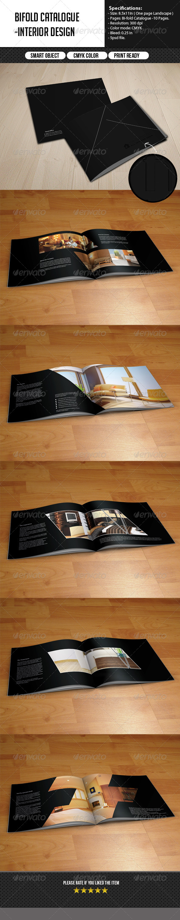 GraphicRiver Bifold Catalog Interior Design 5965149