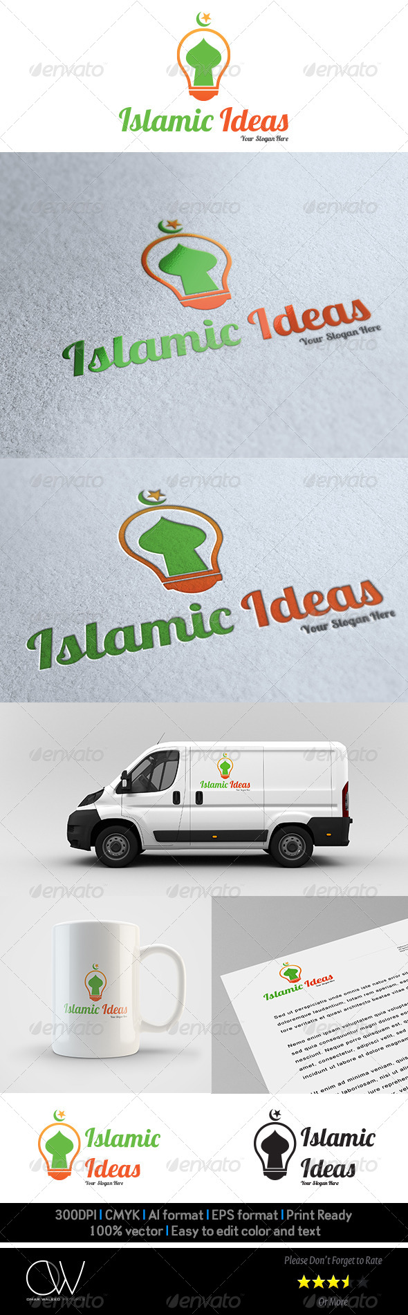 Islamic Ideas Logo Template