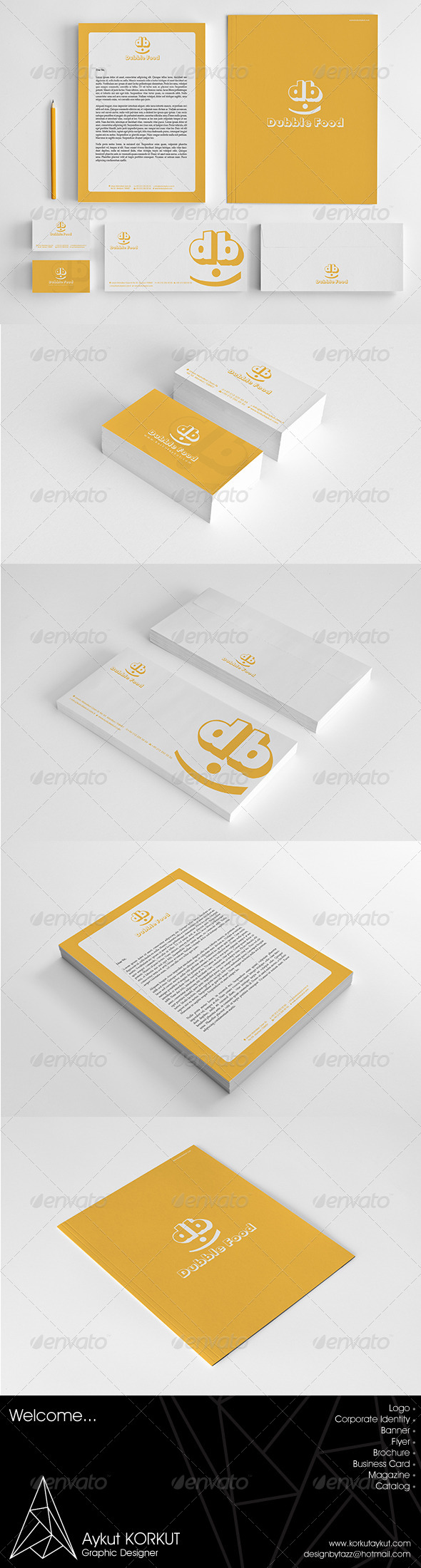 GraphicRiver Dubble Food Corporate Identity Package 5965244