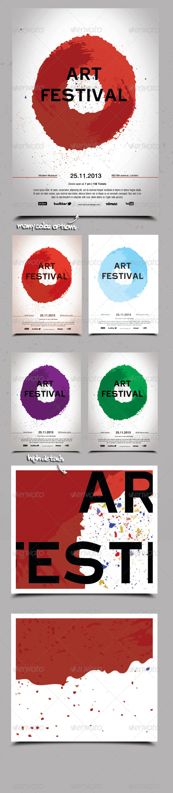 Art Festival Poster / Flyer - Events Flyers