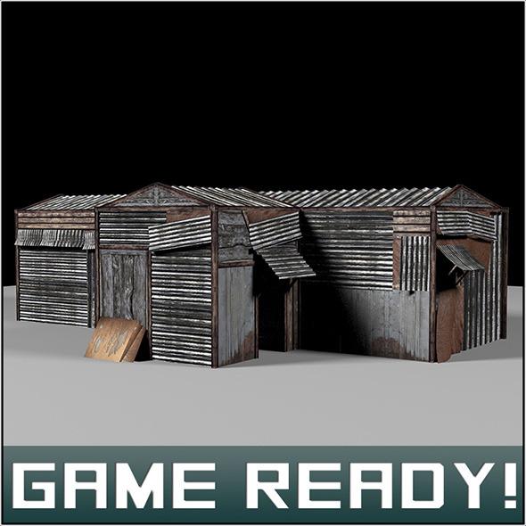 Slums Building #4 - 3DOcean Item for Sale