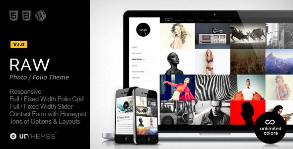 ThemeForest Raw Responsive Photography WordPress Theme 5965864