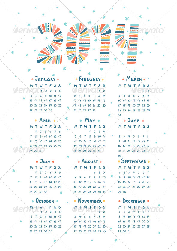 GraphicRiver Calendar 2014 5966318