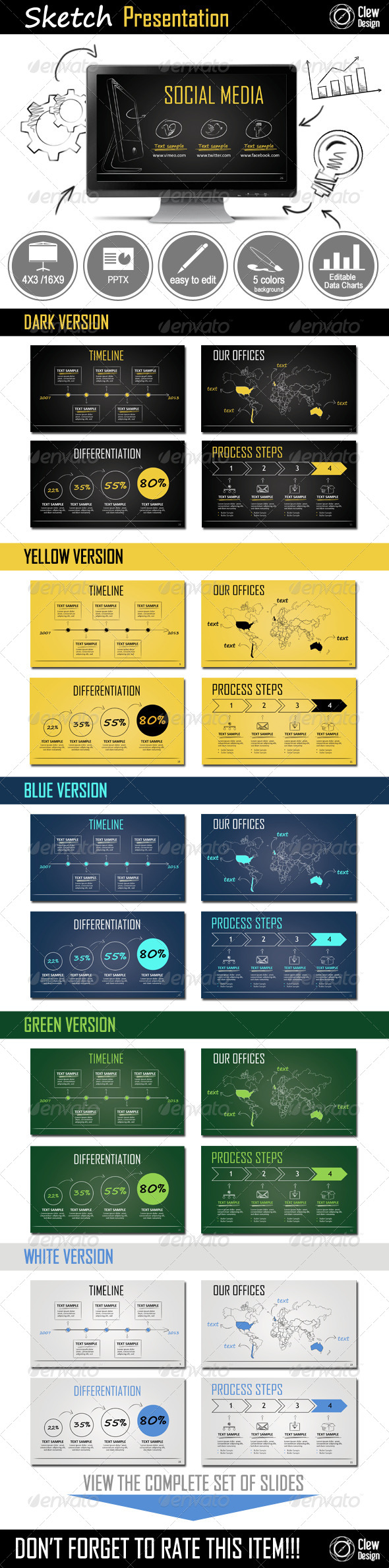 GraphicRiver Sketch Powerpoint Presentation 5966606