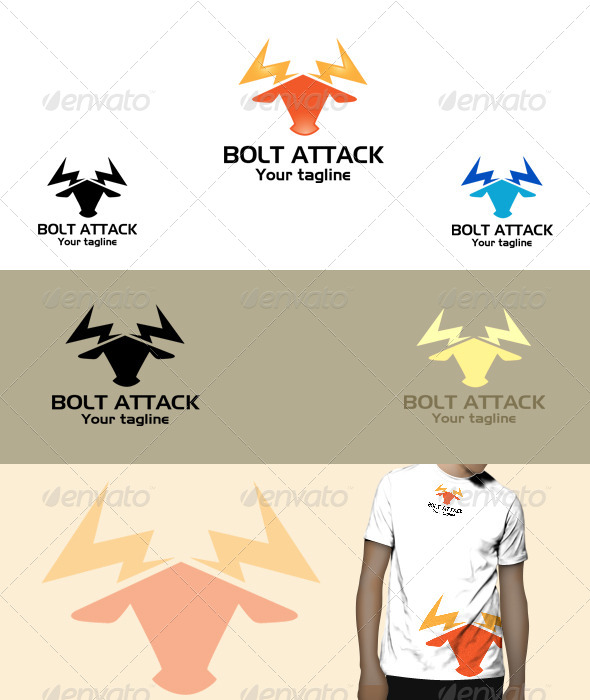 GraphicRiver Bolt Attack Logo 5966617
