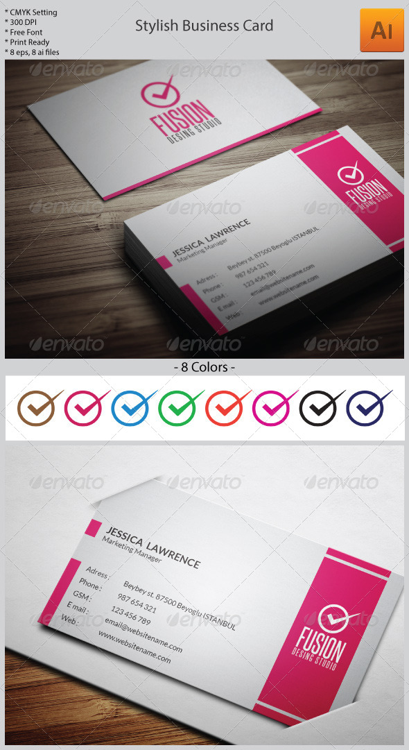 GraphicRiver Stylish Business Card 5966630
