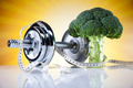 Diet and fitness, dumbell