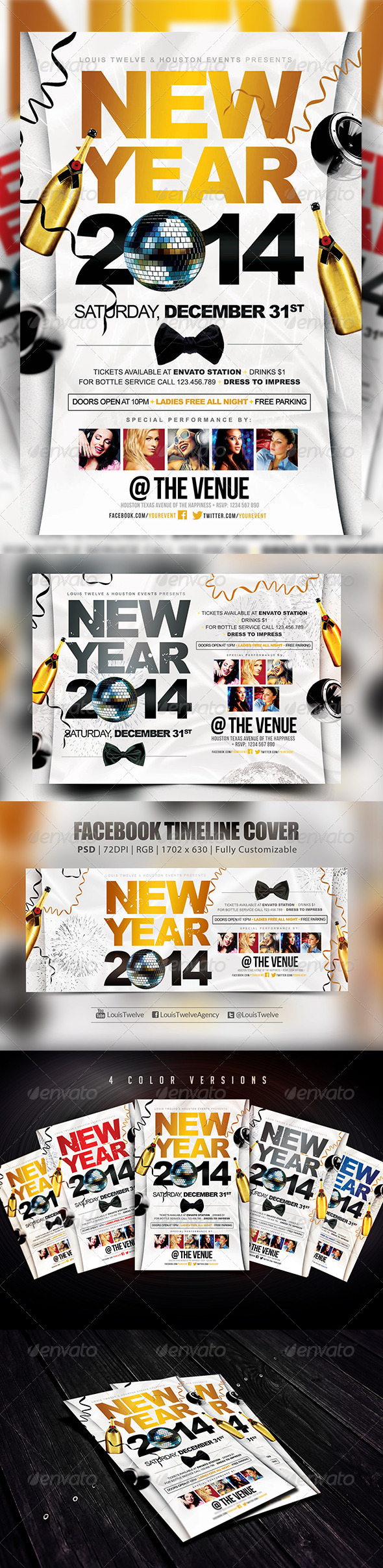 GraphicRiver New Year Party Flyers & FB Cover 5966769