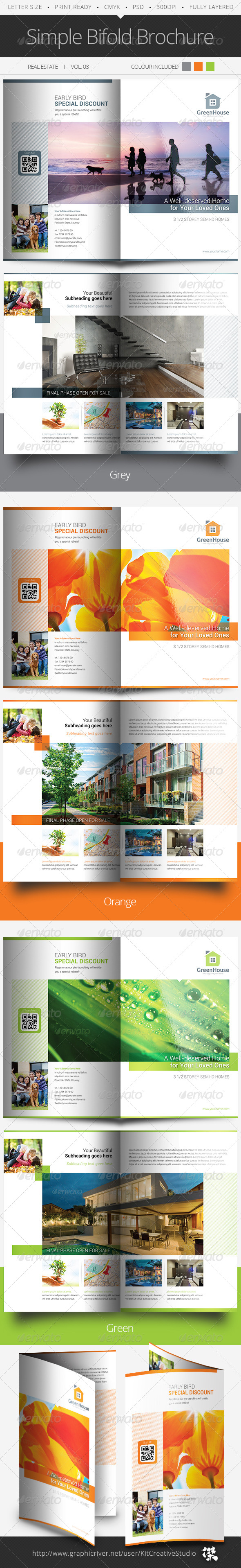 Simple Bifold Brochure Vol.03 - Informational Brochures