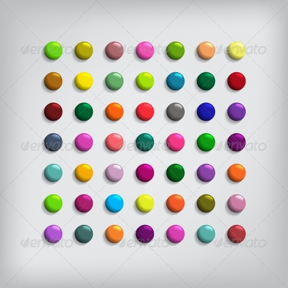 GraphicRiver Set of Round Colorful Buttons 5967126
