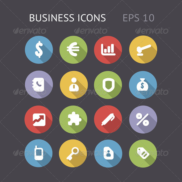 GraphicRiver Flat Icons For Business 5967128