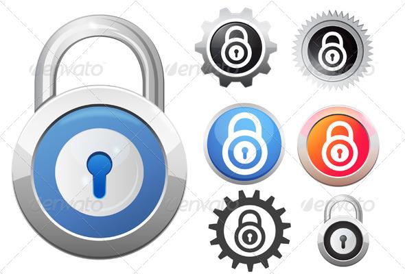 GraphicRiver Lock Icon Illustration 5967370