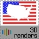 USA Inverse Flag Map 3D - GraphicRiver Item for Sale