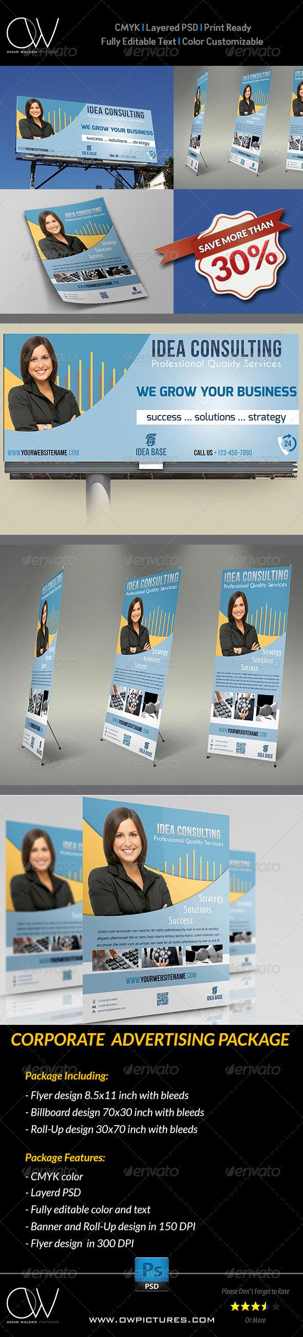 Corporate Advertising Bundle - Signage Print Templates