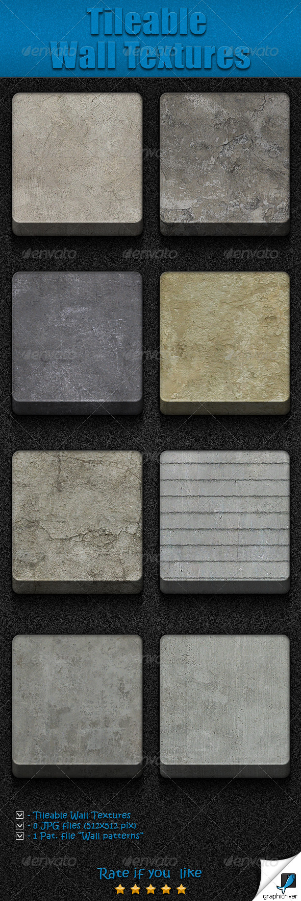 GraphicRiver Tileable Wall Textures 5967700