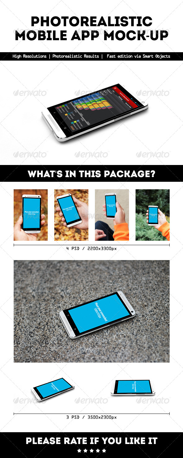 GraphicRiver Photorealistic Mobile App Mock-Up 5946570
