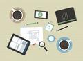 Flat illustration of modern business meeting - PhotoDune Item for Sale