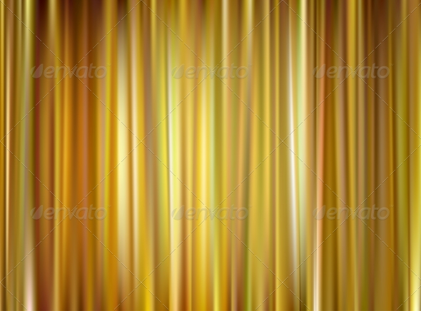 GraphicRiver Vector Gold Curtain 5968224