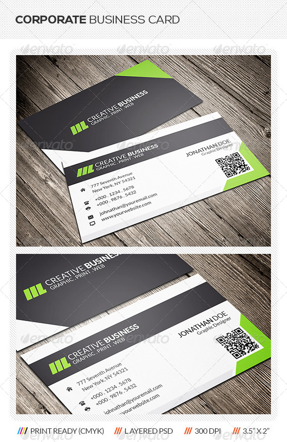 GraphicRiver Corporate Business Card 5968225