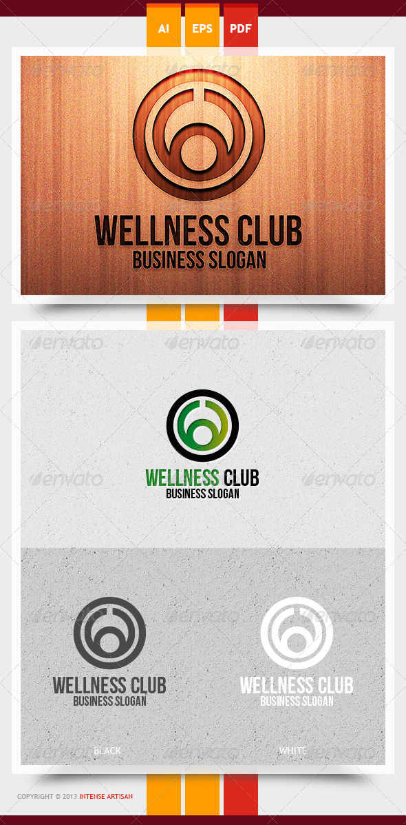 GraphicRiver Wellness Club Logo Template 5968282