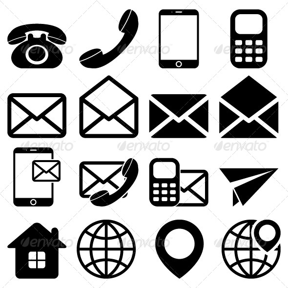 GraphicRiver Contact Us Icons Set 5968288
