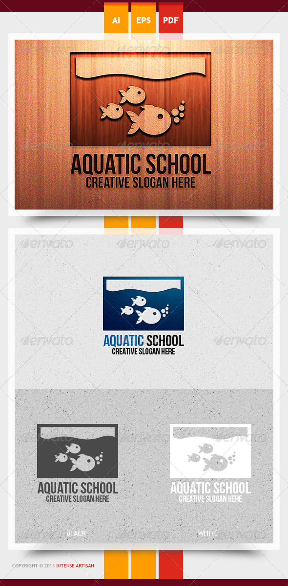Aquatic School Logo Template