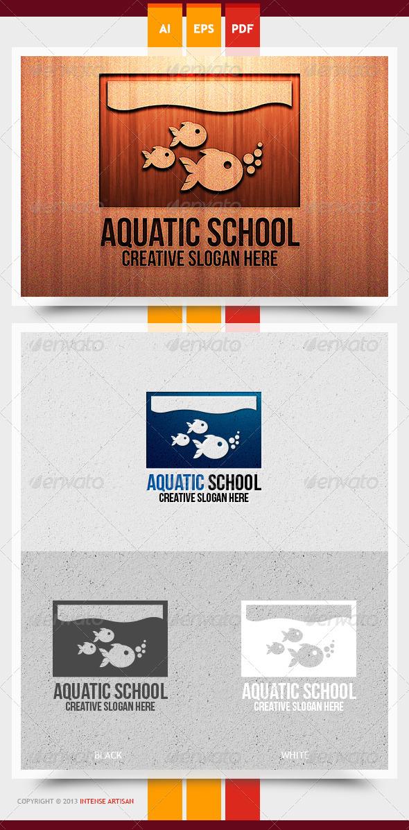 GraphicRiver Aquatic School Logo Template 5968336