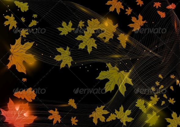 GraphicRiver Abstract Autumn Background 5968344