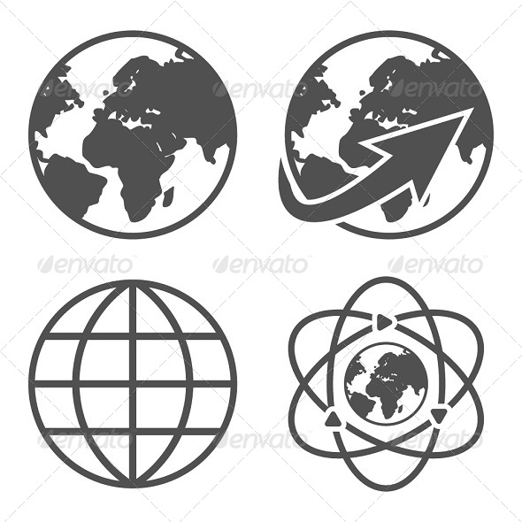 GraphicRiver Globe Earth Icons Set 5968754