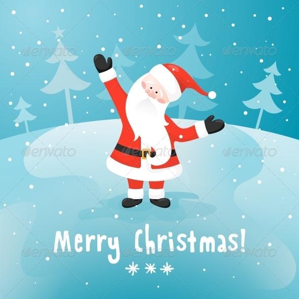 Santa Claus Vector Christmas Card