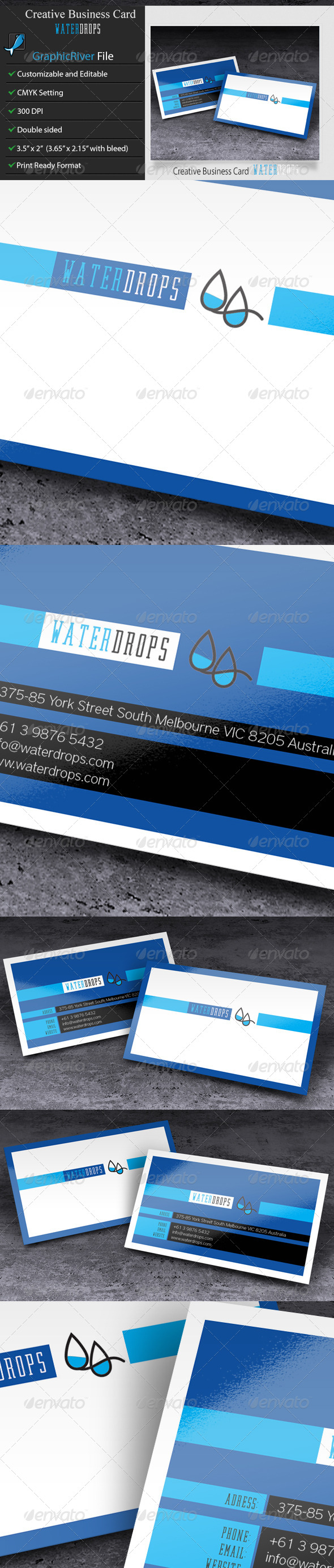 GraphicRiver Creative Business Card WaterDrops 5968897