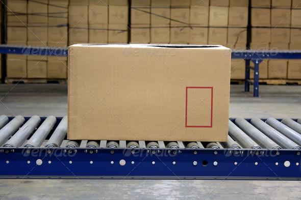 PhotoDune Carton on a conveyor 628788